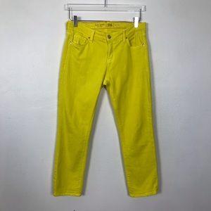 Kate Spade yellow slim crop jeans | 29